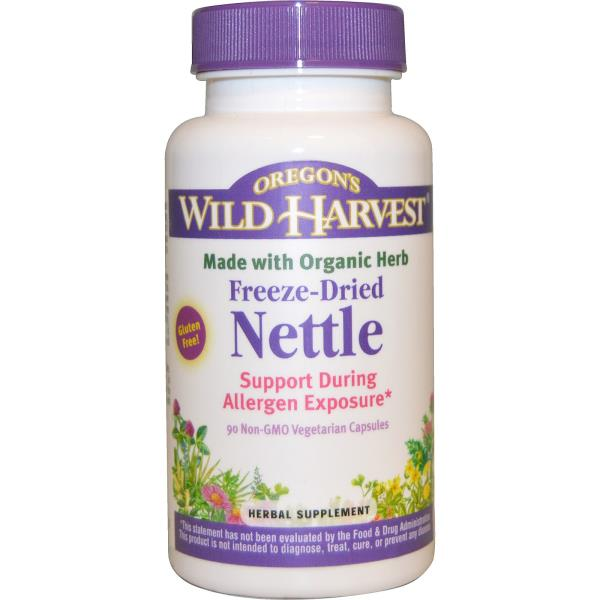 Oregon's Wild Harvest, Nettle, Freeze-Dried, 90 Non-GMO Veggie Caps
