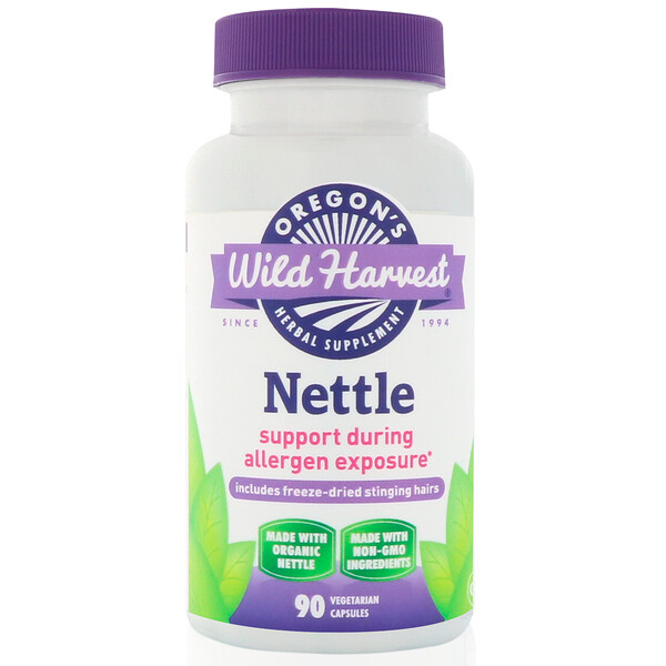 Oregon's Wild Harvest, Nettle, 90 Vegetarian Capsules