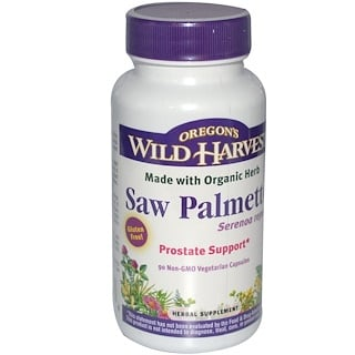 Oregon's Wild Harvest, Saw Palmetto, 90 Vegetarian Capsules