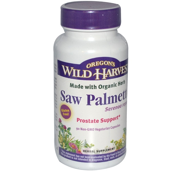 Oregon's Wild Harvest, Saw Palmetto, 90 Non-GMO Vegetarian Capsules