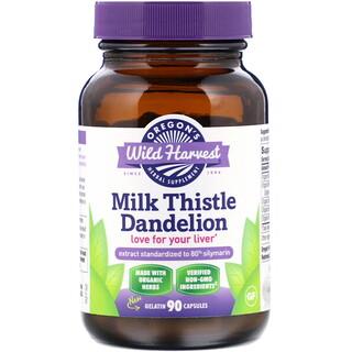 Oregon's Wild Harvest, Milk Thistle Dandelion, 90 Cápsulas de Gelatina