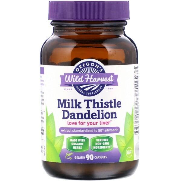 Milk Thistle Dandelion, 90 Gelatin Capsules