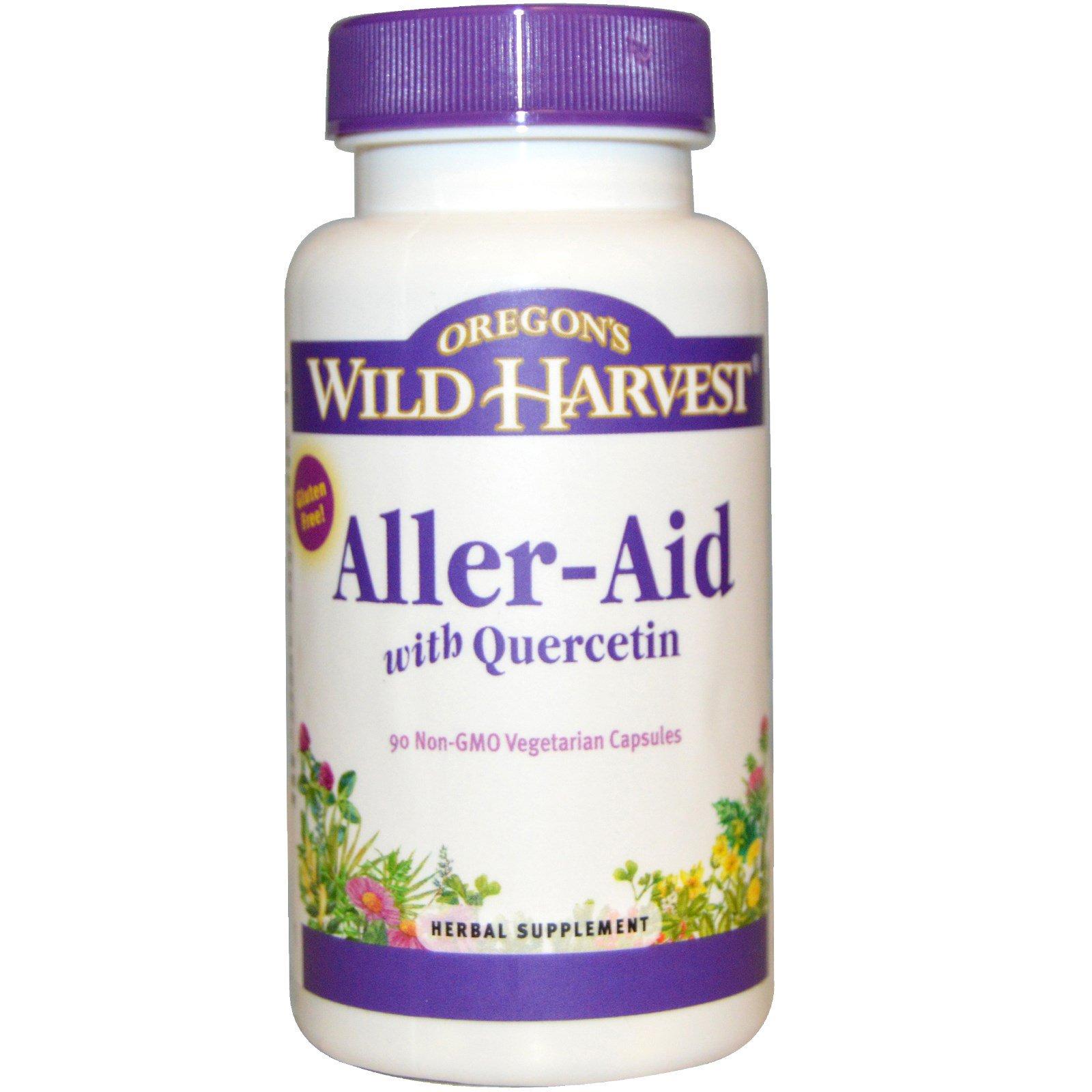 Oregon's Wild Harvest, Aller-Aid, с кверцетином, 90 растительных капсул без ГМО