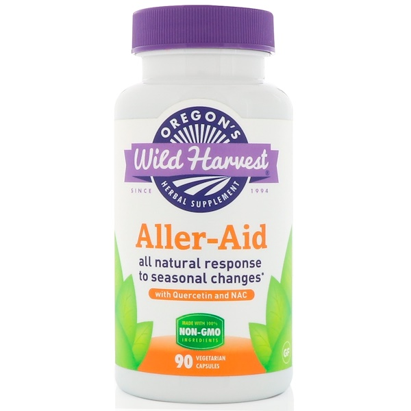 Oregon's Wild Harvest, Aller-Aid, with Quercetin and NAC, 90 Vegetarian Capsules (Discontinued Item)