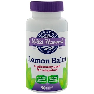 Oregon's Wild Harvest, Lemon Balm, 90 Vegetarian Capsules