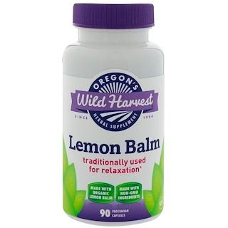 Oregon's Wild Harvest, Лимонный бальзам, 90 вегетарианских капсул