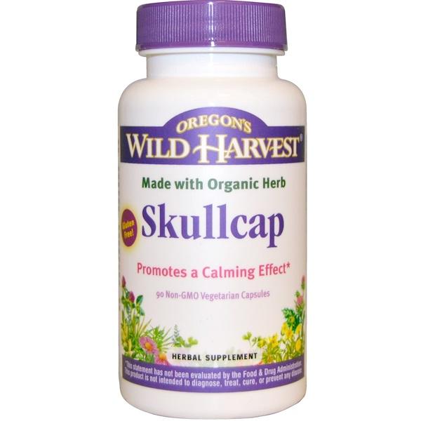 Oregon's Wild Harvest, Skullcap, 90 Non-GMO Veggie Caps (Discontinued Item)
