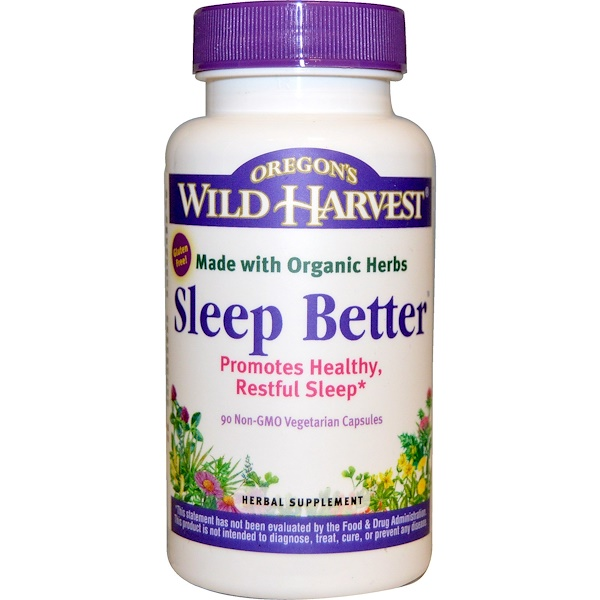 Oregon's Wild Harvest, Sleep Better, 90 capsulas vegetales sin OGM