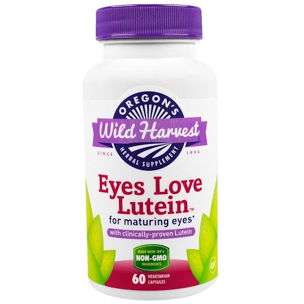 Oregon's Wild Harvest, Глаза любят лютеин, 60 вегетарианских капсул (Discontinued Item)