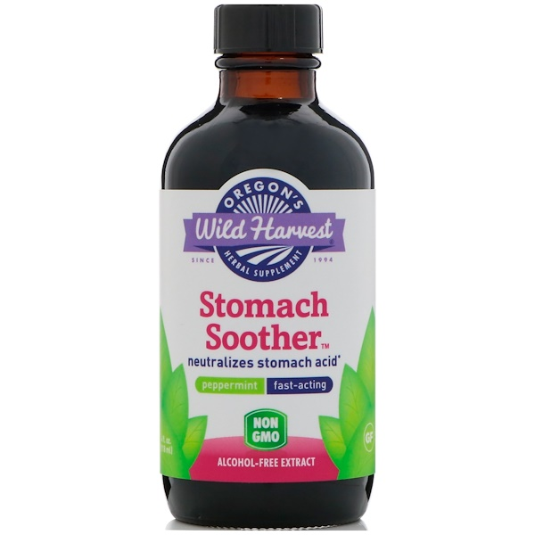Oregon's Wild Harvest, Stomach Soother, Peppermint, 4 fl oz (118 ml) (Discontinued Item)