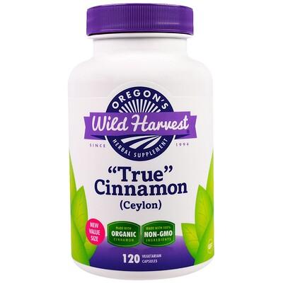 Купить Oregon's Wild Harvest True Cinnamon (Ceylon), 120 Vegetarian Capsules
