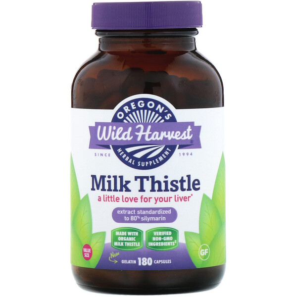 Oregon's Wild Harvest, Milk Thistle, 180 Capsules