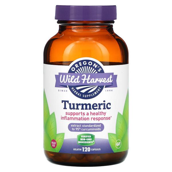 Turmeric, 120 Vegetarian Capsules
