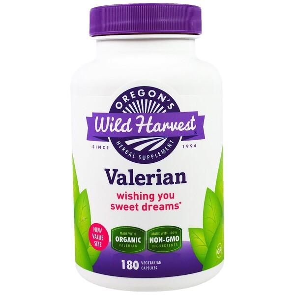Oregon's Wild Harvest, Valerian, Non-GMO, 180 Vegetarian Capsules (Discontinued Item)