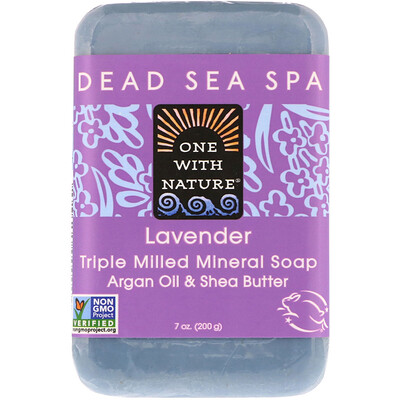 Triple Milled Mineral Soap Bar, Lavender, 7 oz (200 g) lush gardenia french milled soap with organic shea butter 6 oz 170 g