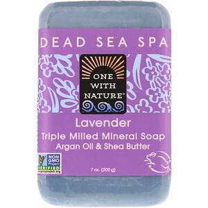 Ван виз Натуре, Triple Milled Mineral Soap Bar, Lavender, 7 oz (200 g) отзывы покупателей