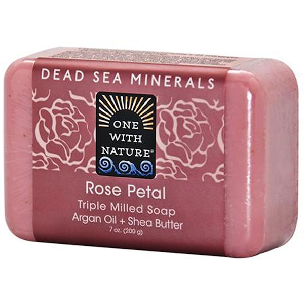 One with Nature, Rose Petal Soap Bar, 7 oz (200 g)