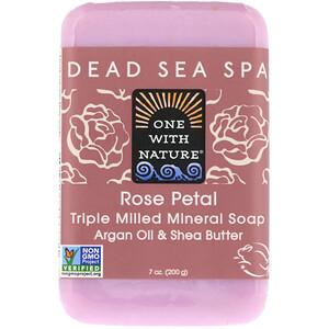 Ван виз Натуре, Triple Milled Mineral Soap Bar, Rose Petal, 7 oz (200 g) отзывы