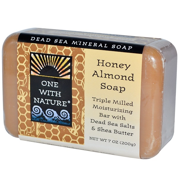 One with Nature, Honey Almond Soap Bar, 7 oz (200 g) (Discontinued Item)