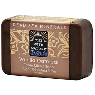 One with Nature, Vanilla Oatmeal Soap Bar, 7 oz (200 g)