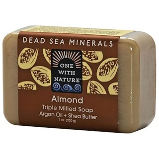 One with Nature, Almond Soap Bar, 7 oz (200 g)