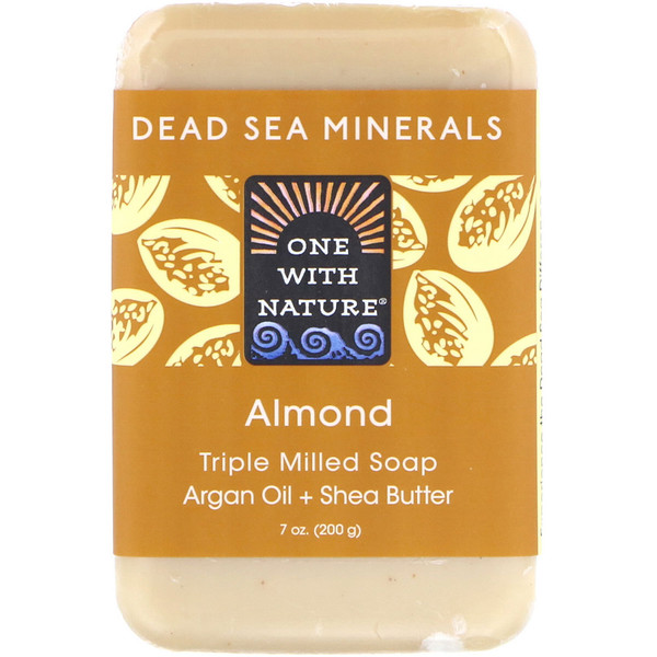 One with Nature, Triple Milled Soap, Almond, 7 oz (200 g) (Discontinued Item)