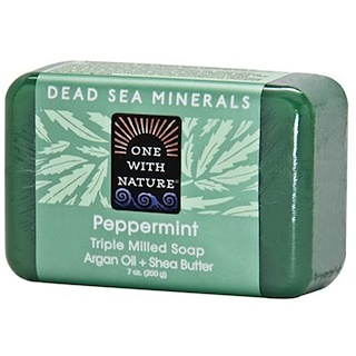 One with Nature, Triple Milled Soap, Peppermint, 7 oz (200 g)