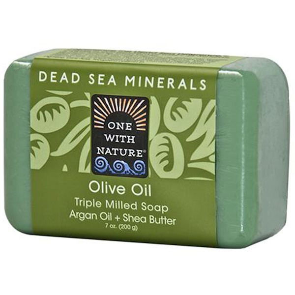 One with Nature, Olive Oil, Triple Milled Soap Bar, 7 oz (200 g)