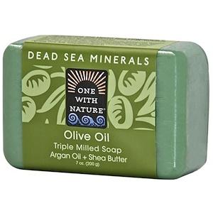 One with Nature, Трижды пилированное мыло с оливковым маслом, 7 унций (200 г) инструкция, применение, состав, противопоказания