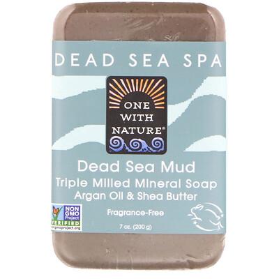 Купить Triple Milled Mineral Soap Bar, Dead Sea Mud, Fragrance-Free, 7 oz (200 g)