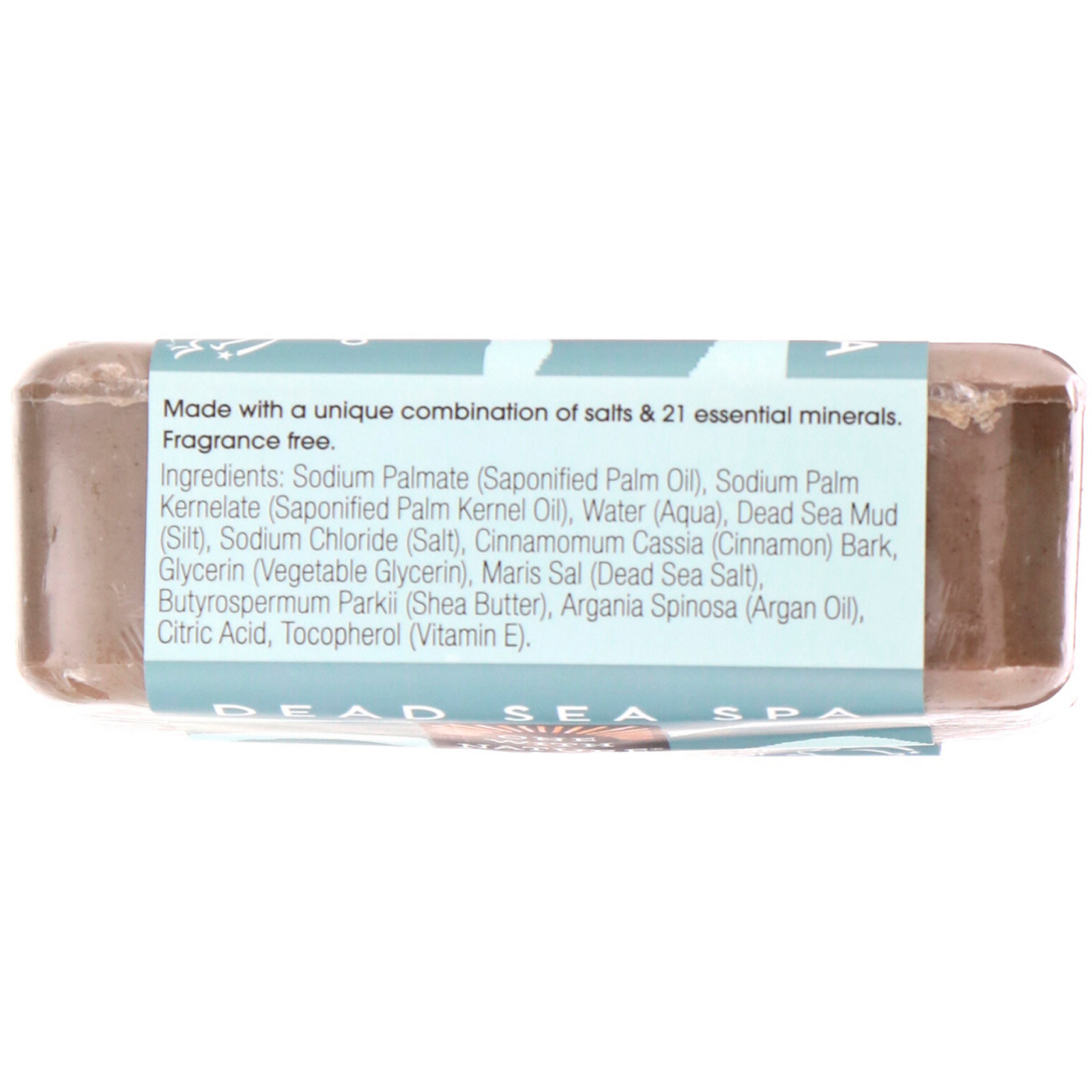 One with Nature, Triple Milled Mineral Soap Bar, Dead Sea Mud