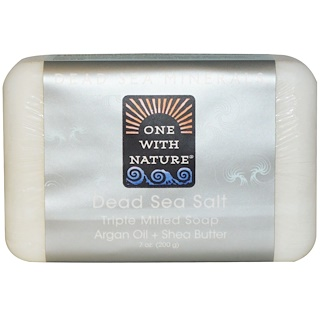 One with Nature, Dead Sea Salt Soap Bar, 7 oz (200 g)