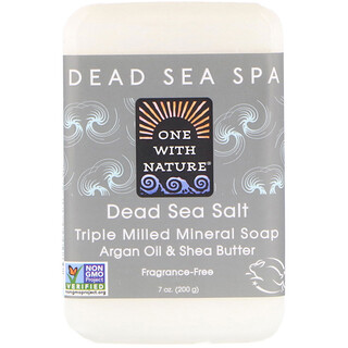 One with Nature, Jabón en barra con sales del Mar Muerto, 7 oz (200 g)
