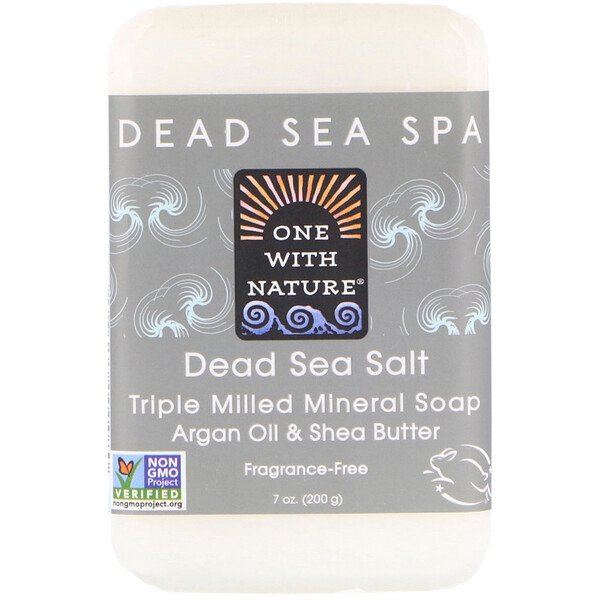 One with Nature, Barre de savon au sel de la mer morte, 200 g (7 oz)