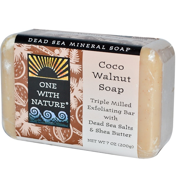 One with Nature, Coco Walnut Soap Bar, 7 oz (200 g) (Discontinued Item)