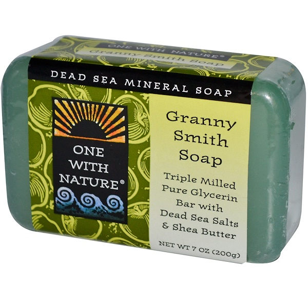 One with Nature, Granny Smith Soap Bar, 7 oz (200 g) (Discontinued Item)
