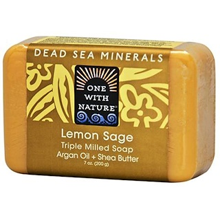 One with Nature, Triple Milled Soap Bar, Lemon Sage, 7 oz (200 g)