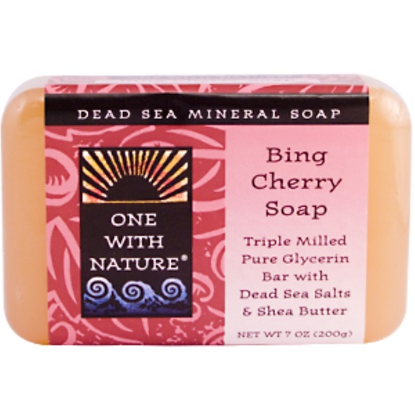 One with Nature, Bing Cherry Soap Bar, 7 oz (200 g) (Discontinued Item)