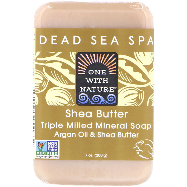 Triple Milled Mineral Soap Bar, Shea Butter, 7 oz (200 g)