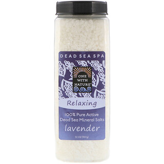 One with Nature, Dead Sea Mineral Salts, Lavender, 2 lbs (907 g)