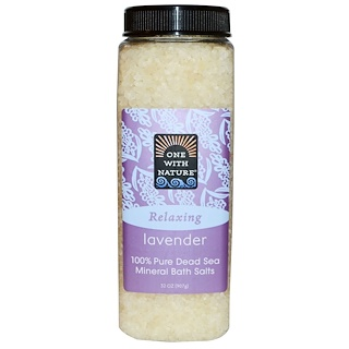 One with Nature, Dead Sea Mineral Bath Salts, Lavender, 32 oz (907 g)