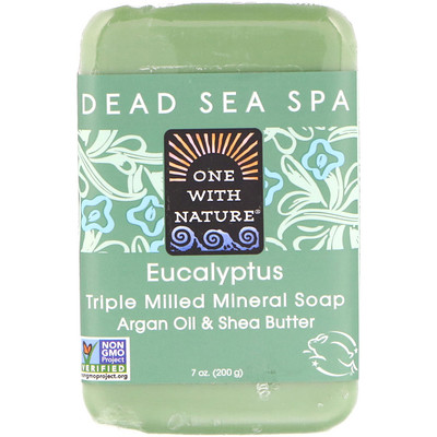 Triple Milled Mineral Soap Bar, Eucalyptus, 7 oz (200 g) lush gardenia french milled soap with organic shea butter 6 oz 170 g