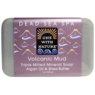 One with Nature, Triple Milled Mineral Soap, Volcanic Mud, 7 oz (200 g)