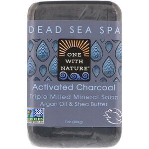 Ван виз Натуре, Triple Milled Mineral Soap Bar, Activated Charcoal, 7 oz (200 g) отзывы покупателей