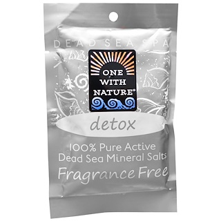 One with Nature, Dead Sea Spa, Mineral Salts, Detox, 2.5 oz (70 g)