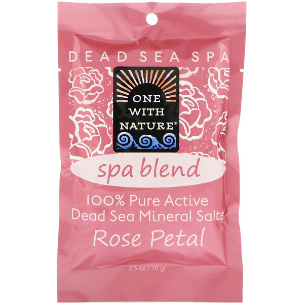 Dead Sea Spa, Mineral Salts, Spa Blend, Rose Petal, 2.5 oz (70 g)