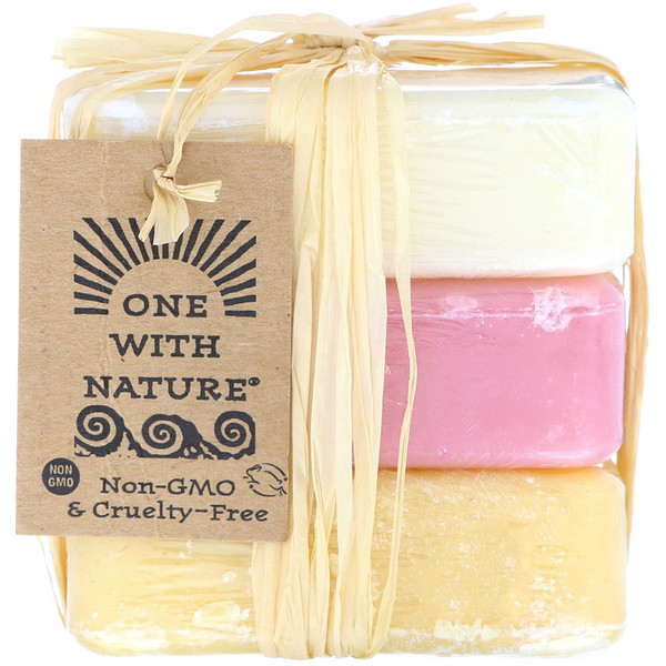 One with Nature, Dead Sea Mineral Soap Bars, Goat's Milk, Wildberry and Lemon Verbena, 1 Pack of 3 Bars, 4 oz (114 g) Each (Discontinued Item)
