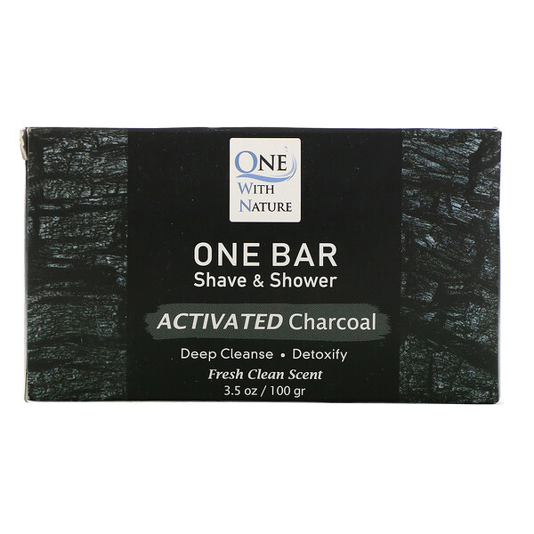 One Bar, Shave & Shower, Activated Charcoal, 3.5 oz (100 g)