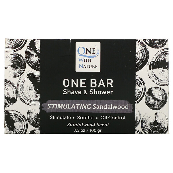 One Bar, Shave & Shower, Stimulating Sandalwood, 3.5 oz (100 g)