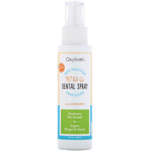 Oxyfresh, डेंटल स्प्रे विथ ऑक्सीजीन, 3 द्रव-औंस (89 मिली) (Discontinued Item)